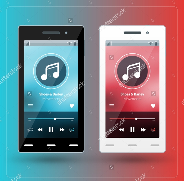 Modern Smart Music App Design