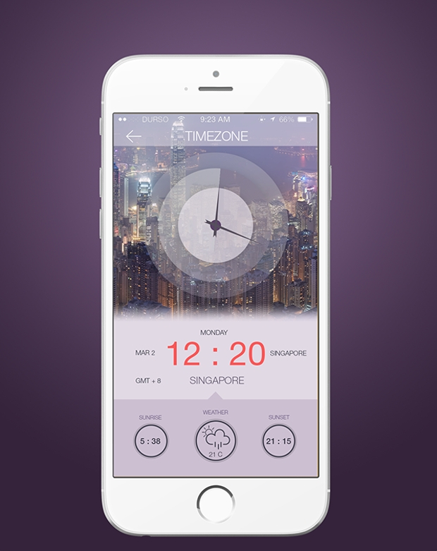 Weather Timezone App Design