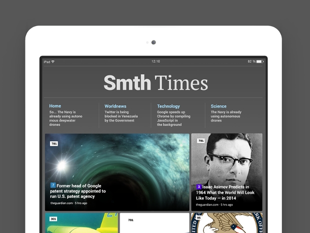 ipad news app design