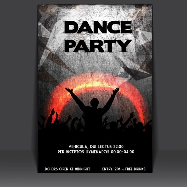 Dance Party Poster Design