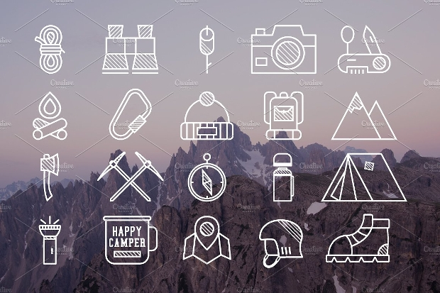 Mountain Explorer App Icon Design