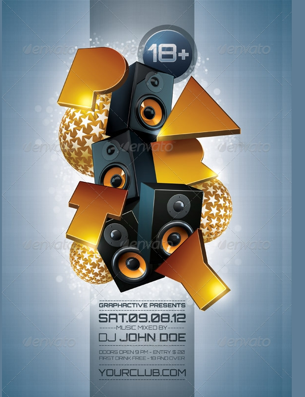 Minimalist Party Poster Design