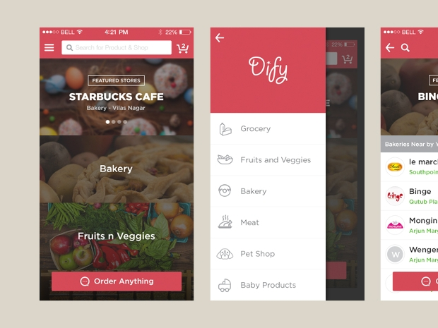 Local Food Ordering App Design