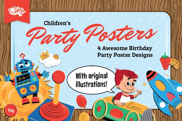 Baby Birthday Poster Design