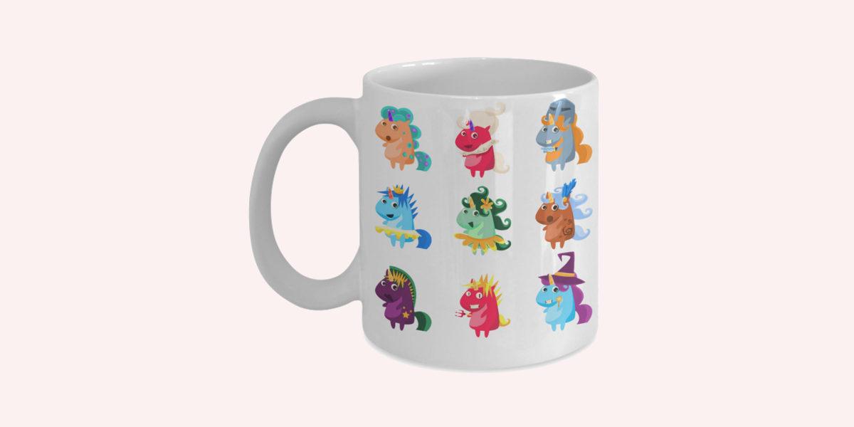 unicorn halloween mug