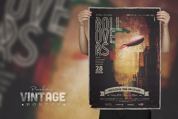 Vintage Concert Poster Design