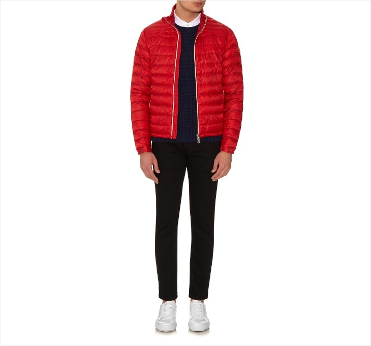 moncler mens red puffer jacket