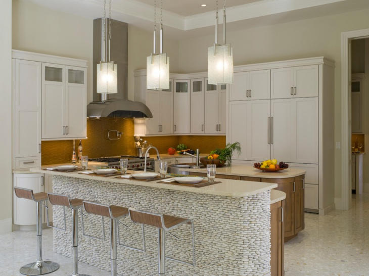 modern kitchen pendant lighting idea