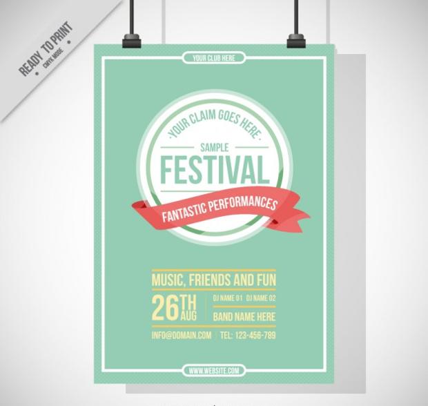 Vintage Festival Poster Design