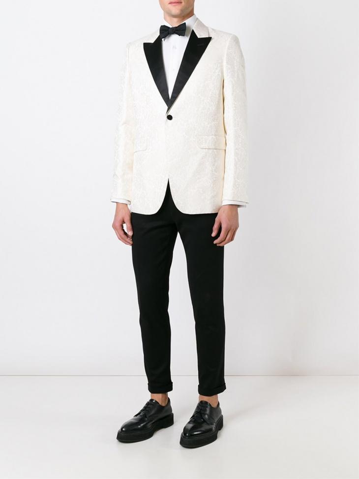 mens white formal jacket