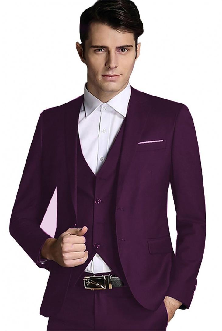mens purple suit jacket design