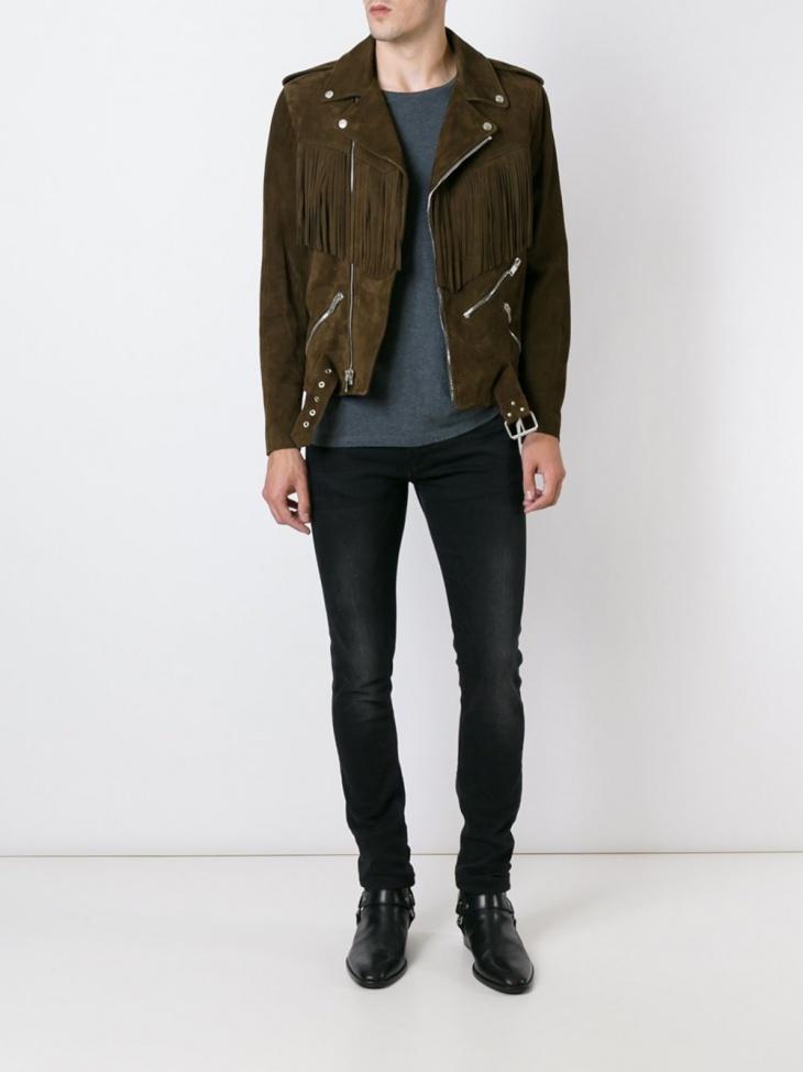 vintage fringe jacket for men