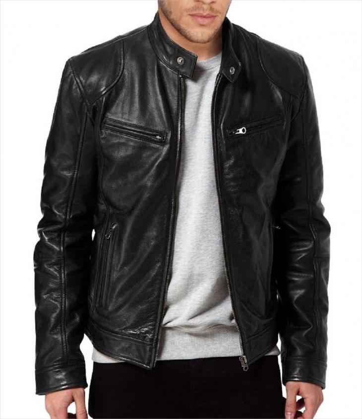 leather biker jacket design for men