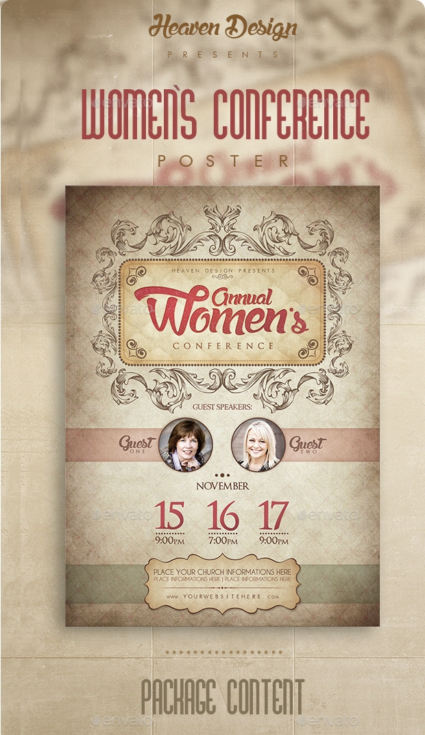 Womens Conference Poster Design