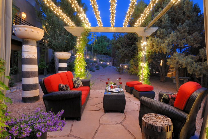 backyard string lighting idea