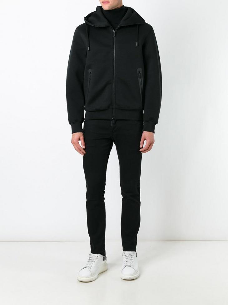 designer mens hooded fleece jacket
