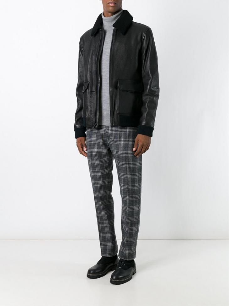 leather fur jacket design for men