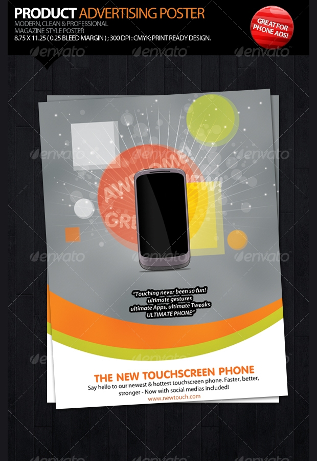 Product Advertising Poster Design