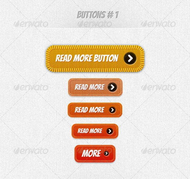 flat photoshop fabric buttons