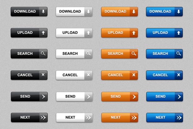 modern photoshop web buttons