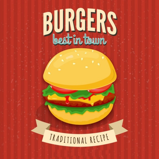 Burger Restaurant Poster Design