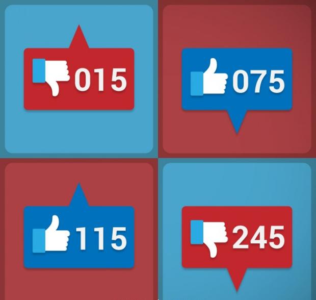 social media like buttons