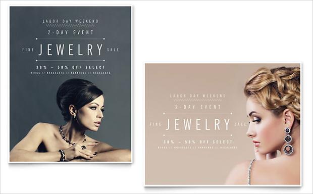 Jewelry Sale Poster Design