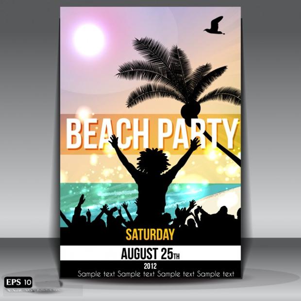 Beach Party Poster Design