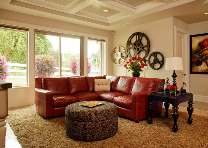 Leather Sectional Sofa Design Idea