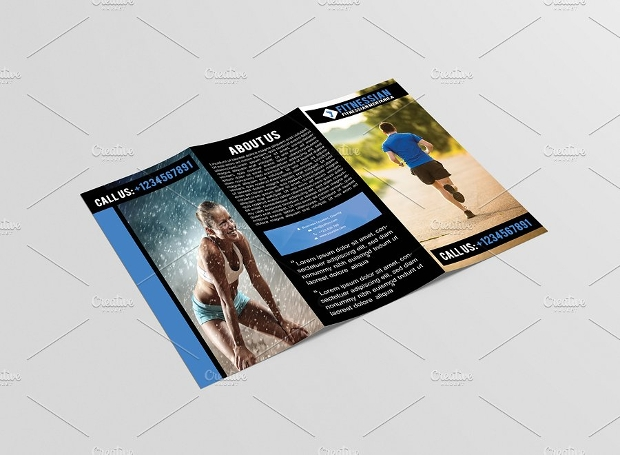 Editable Fitness Gym Brochure