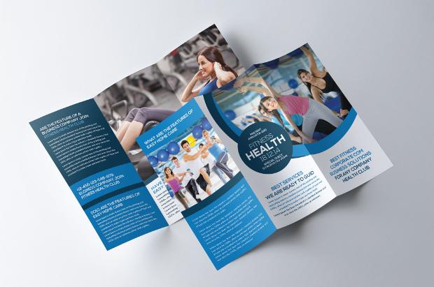 Tri Fold Fitness Gym Brochure