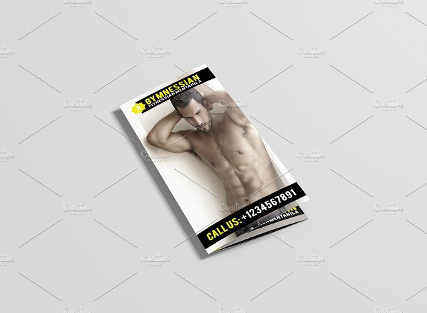 Photoshop PSD Gym Brochure Design