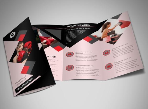 Boxing Gym Brochure Design