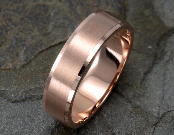 Rose Gold Ring Design for Men