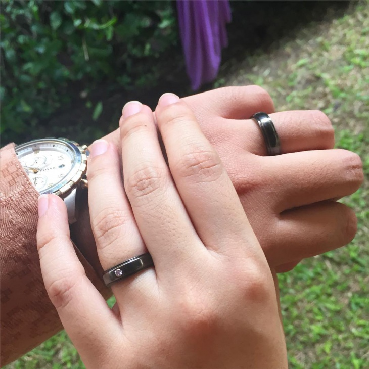 Mens Black Engagement Ring