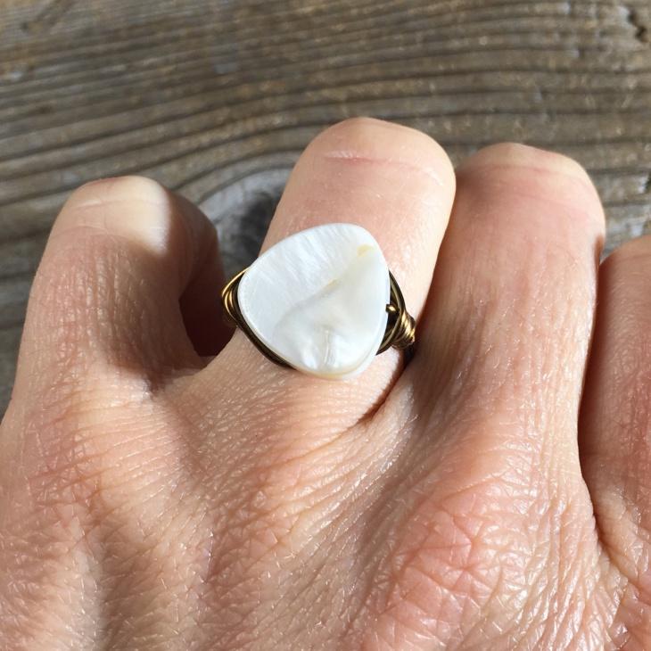 Gold Pearl Ring Design for Men