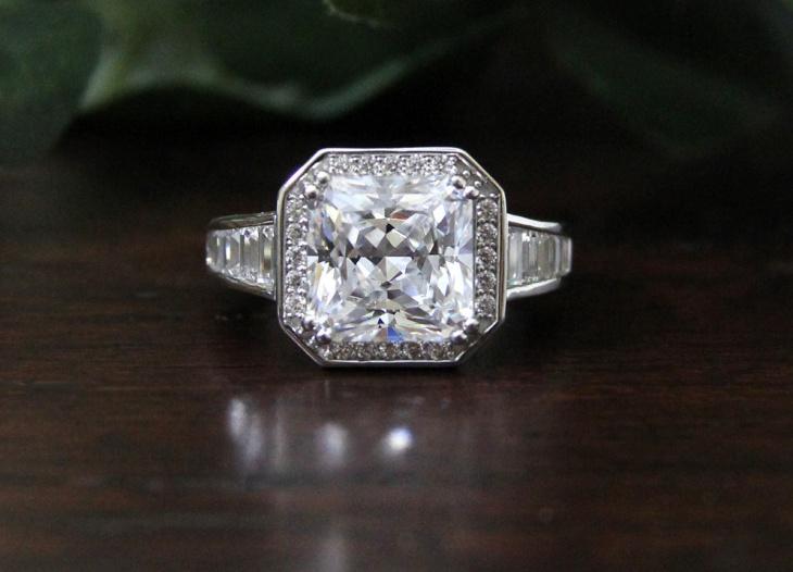 Square Cut Diamond Ring for Men