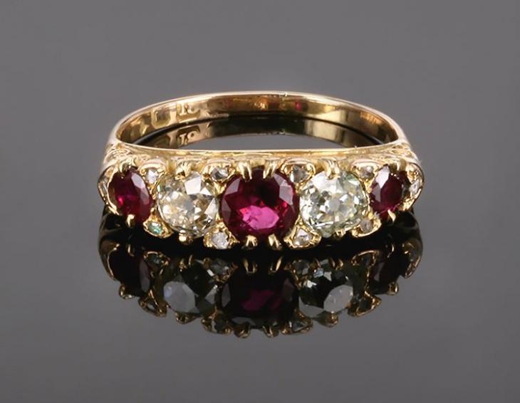 Antique Mens Ruby Ring Design