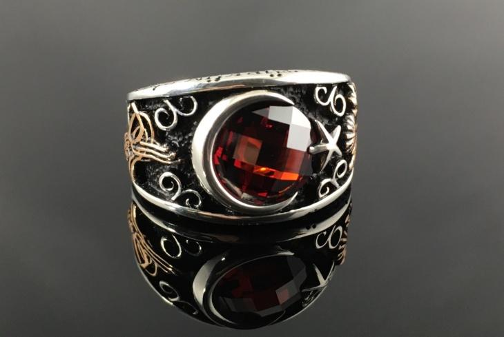 Mens Star Ruby Ring