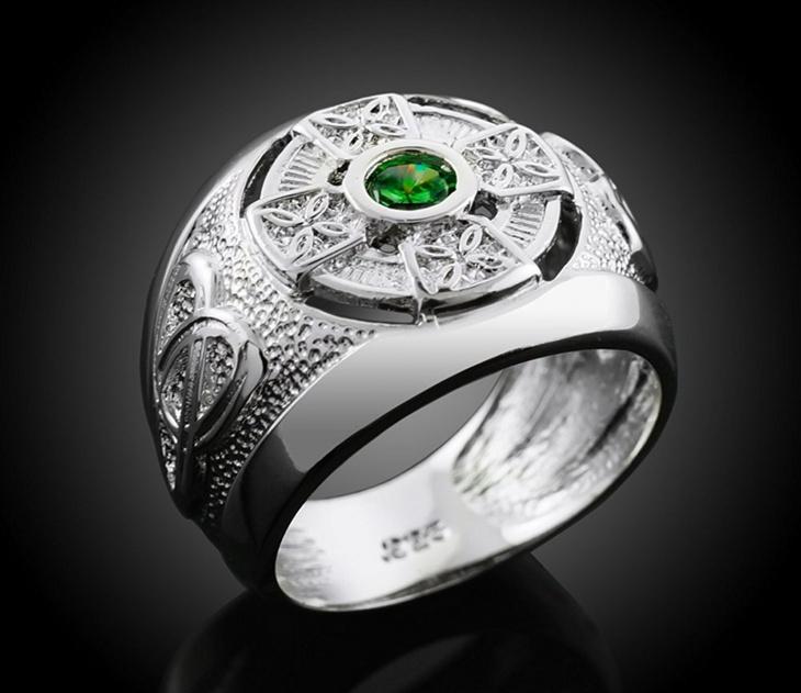 Mens Celtic Cross Ring Design