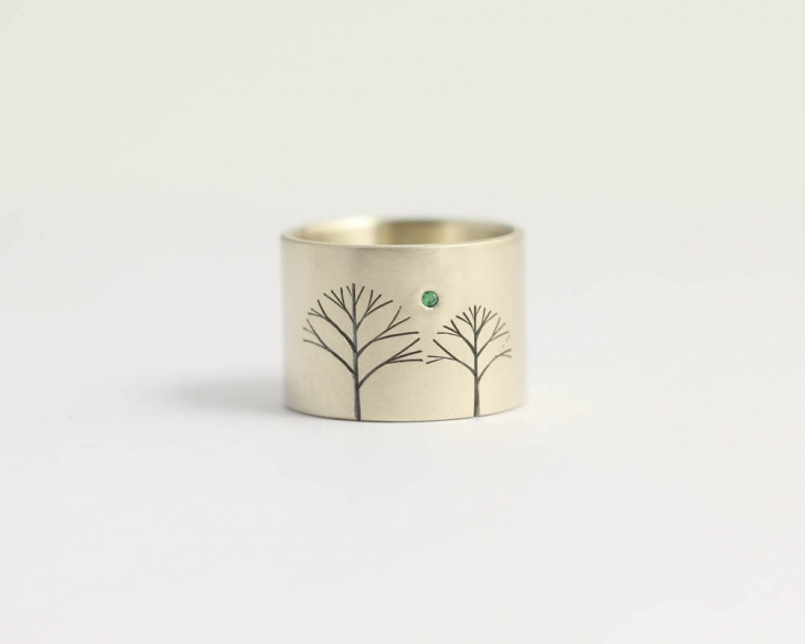 Mens Modern Emerald Ring Design