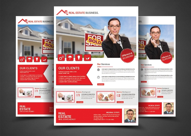 Printable Real Estate Flyer Design