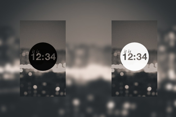 android clock widget design