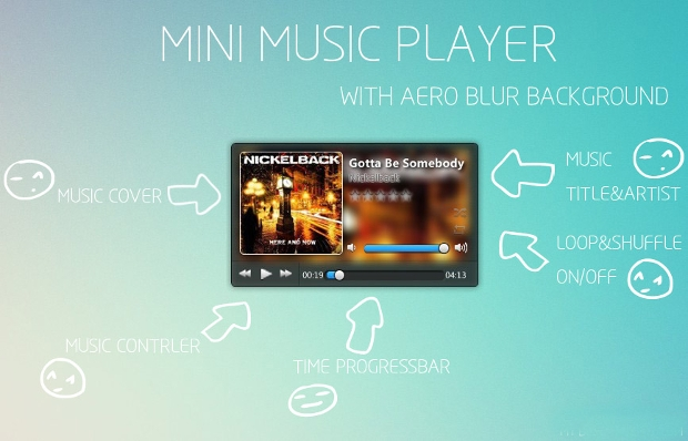 mini music player widget