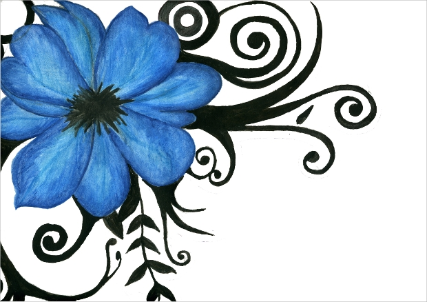 20+ Flower Drawings, Sketches | Design Trends - Premium