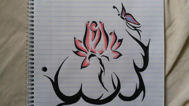 tribal lotus flower drawing