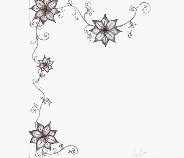 Flower Vine Line Drawing : Flower drawings sketches design trends premium