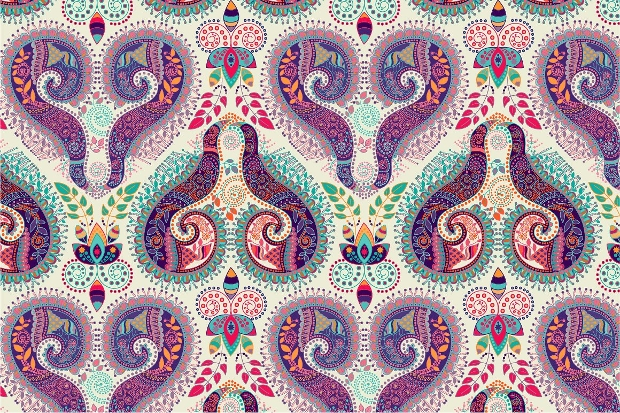 paisley flower pattern design1