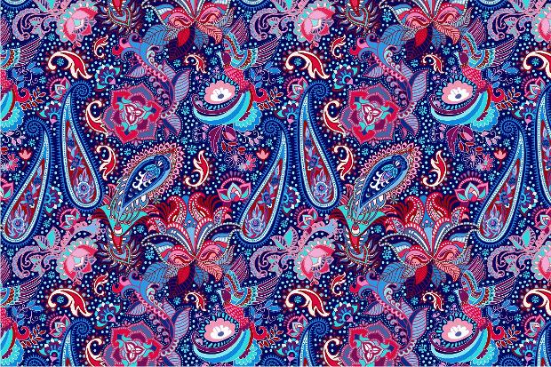 bright paisley pattern