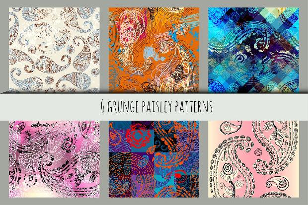 grunge paisley pattern design